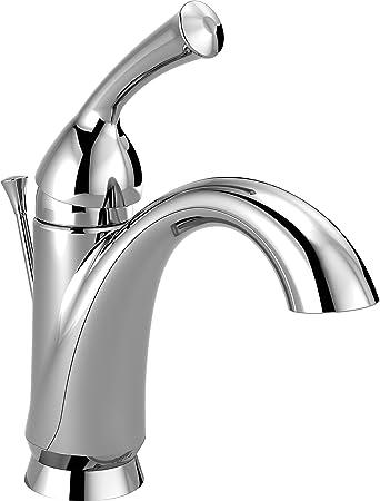 delta faucet haywood single hole bathroom faucet single handle bathroom faucet chrome bathroom sink faucet diamond seal technology drain assembly