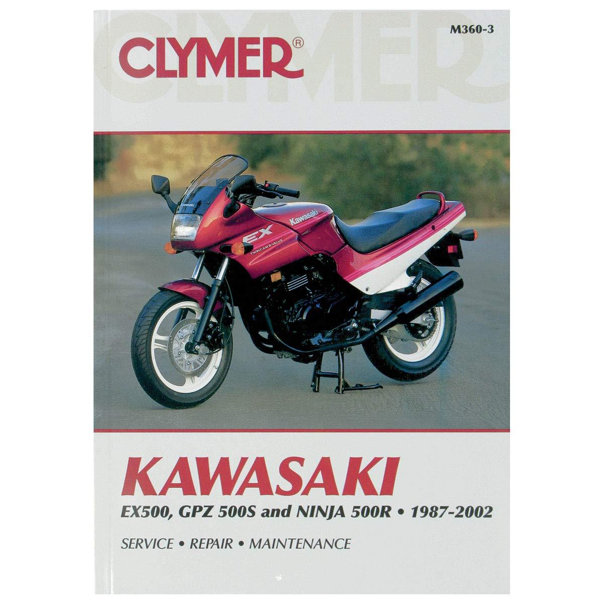 clymer repair manual for kawasaki ex500 gpz500s 500r 87 02
