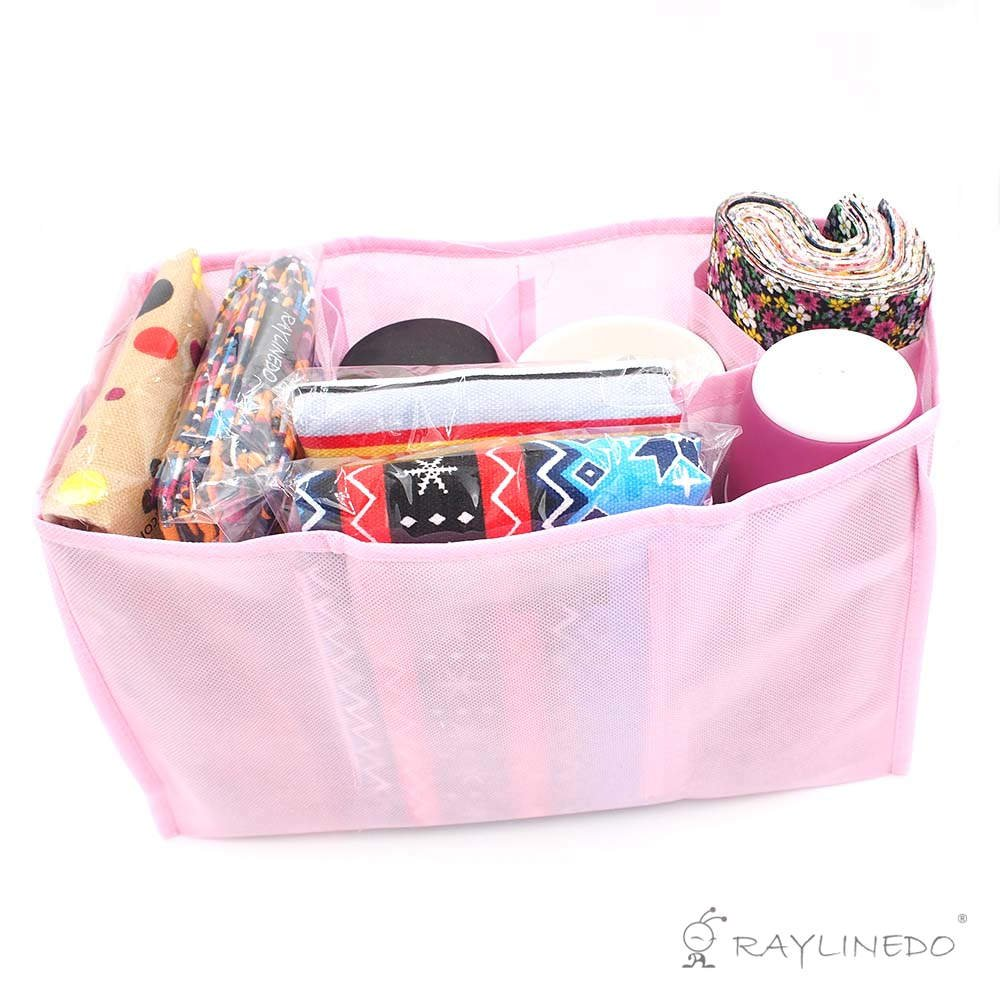 Travel Outdoor Portable Baby Diaper Nappy Storage Insert Organizer Bag Tote,Pink