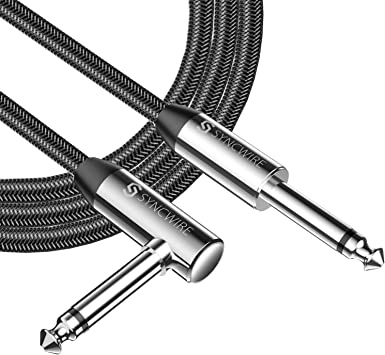 Syncwire Profesional Cable para Guitarra 3m/10ft, Cable de Jack 6.35mm (1/4