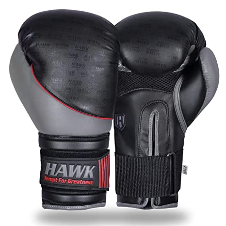 Hawk Sports Boxing Gloves for Men   Women MMA Sparring Muay Thai Kickboxing  Leather Training Punching bc32e2589d35f