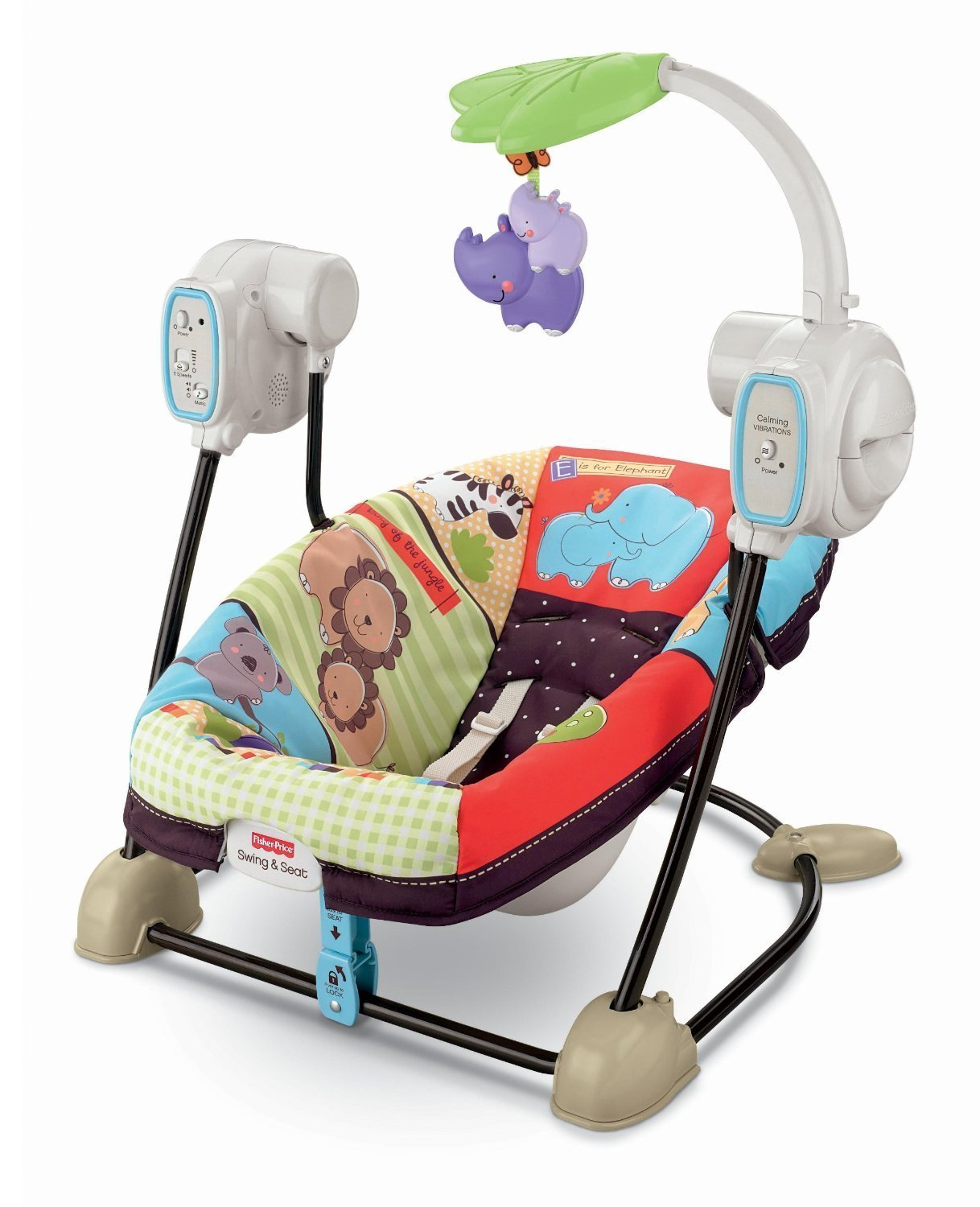 Amazon com fisher price space saver swing and seat luv u zoo stationary baby swings baby