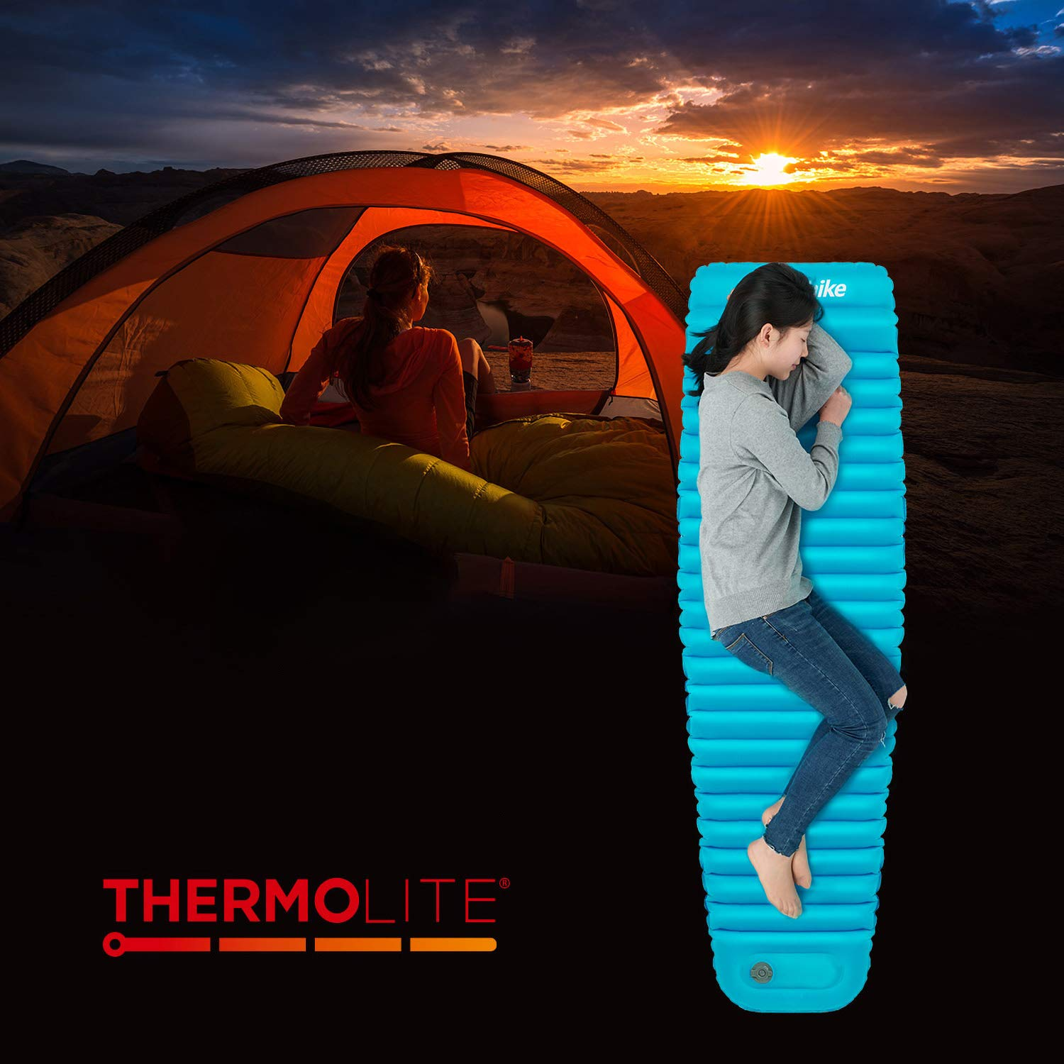 Foreverharbor Portable Size Moisture-Proof Sleeping Pad Picnic Mat Outdoor Camping Tent Inflatable Cushion Waterproof Air Mattress by Foreverharbor (Image #5)