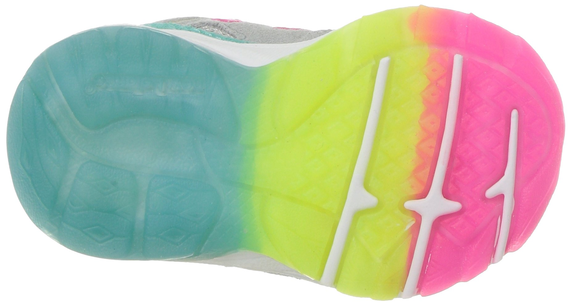 New Balance Girls' 888v1 Running Shoe, Silver Mink/Rainbow, 6 W US Big Kid by New Balance (Image #3)