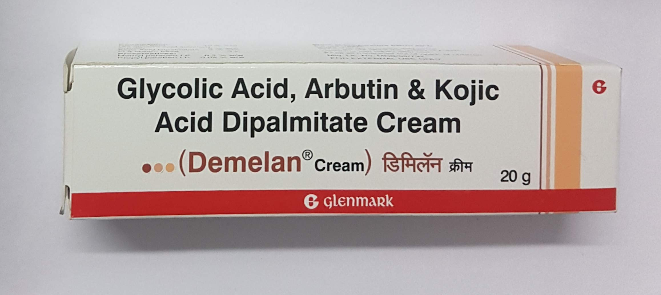 New Pack 20 gm Demelan Cream (Glycolic Acid/Arbutin/Kojic Acid) by glenmark