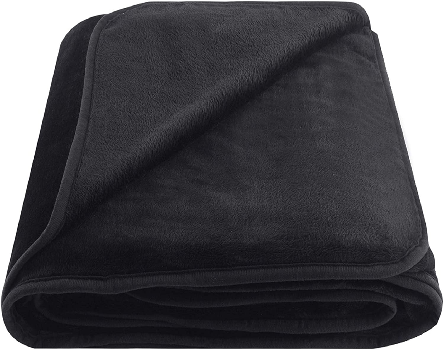 """OBOEY Polar Fleece Blankets Queen Size for Spring Summer All Season 350GSM Lightweight Microfiber Anti-Static for Bed, Couch, Home, Sofa, Car, Airplane, and Outdoors 90"""" x 90""""(Dark Gray Queen)"""
