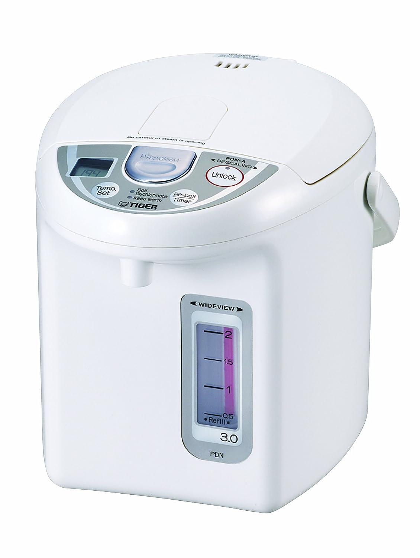 Tiger PDN-A30U-W Electric Water Boiler and Warmer, White, 3.0-Liter PDN-A30U-WU 4228839