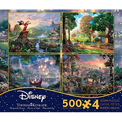 Ceaco Thomas Kinkade: Disney 4 in 1 Jigsaw Puzzle Collection #2: Toys & Games