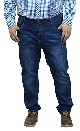 44f5363a5cc Image Unavailable. Image not available for. Color  Allonly Casual Relax Fit  Straight Leg Jeans For Men Plus Size Big And Tall