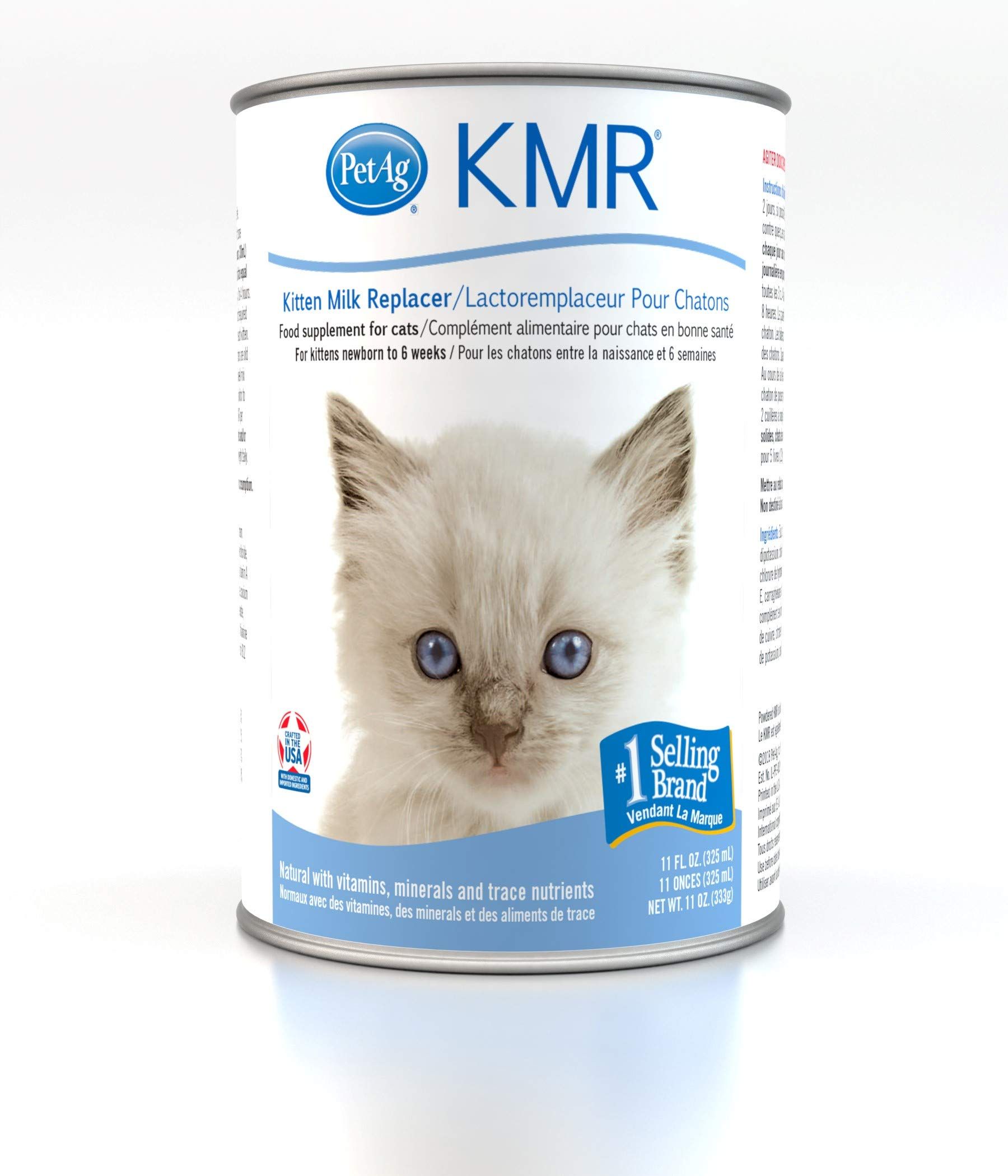 PetAG KMR Liquid Replacer for Kittens & Cats, 11oz Can by PetAg