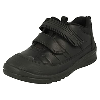 5325411a12993 Start-rite Bolt Black Leather Boys Velcro School Shoe: Amazon.co.uk ...