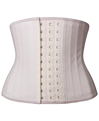 d886286298 YIANNA Women s Classic Underbust Latex Sports Girdle Short Torso Waist  Training Corsets for Weight Loss Hourglass