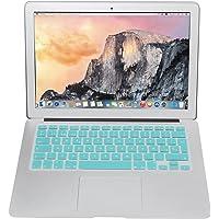 Protector Skin de Teclado para Macbook en Español compatible con: Macbook/Pro 13''/Pro 15''/Pro Retina 13''/Pro Retina 15''/Air 13'', Models: A1278/A1286/A1502/A1425/A1398/A1369/A1466 VERDE AQUA