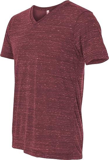 5e7d70d8fcb0 Bella + Canvas Unisex Jersey Short Sleeve V-Neck Tee (Maroon Marble) (