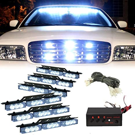 Vehicle Strobe Lights >> Pacask 54 Led Warning Use Flashing Strobe Lights Emergency Vehicle Strobe Lights Bar For Windshield Dash Grille White