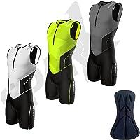 Sparx Men`s Triathlon Suit Tri Race Skinsuit Bike-Swim-Run 3 Pockets Italian Fabric