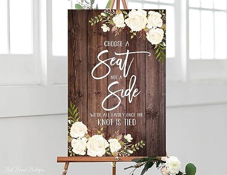 Amazon.com: Placa de madera rústica elegir un asiento no un ...
