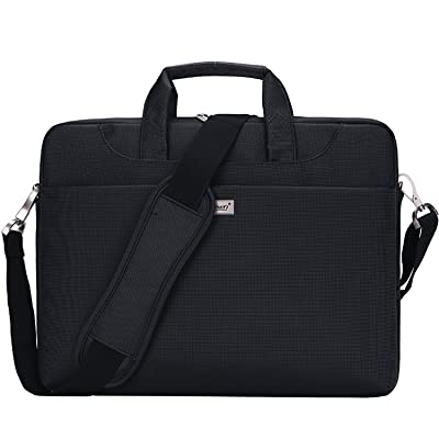 13.3 inch Laptop bag, Youpeck Laptop Sleeve Case Messenger Bag Waterproof Shockproof Briefcase with Handles & Strap Shoulder Bag for MacBook Air Pro / DELL ASUS ACER Lenovo 13 inch Ultrabook - Black