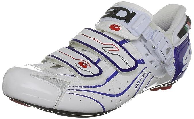 Sidi 74900 - Zapatillas de ciclismo de nailon para hombre, color blanco, talla 40.5: Amazon.es: Zapatos y complementos
