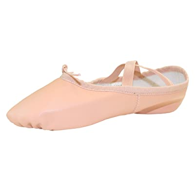 Danzcue Adult Split Sole Leather Ballet Dance Slipper | Ballet & Dance