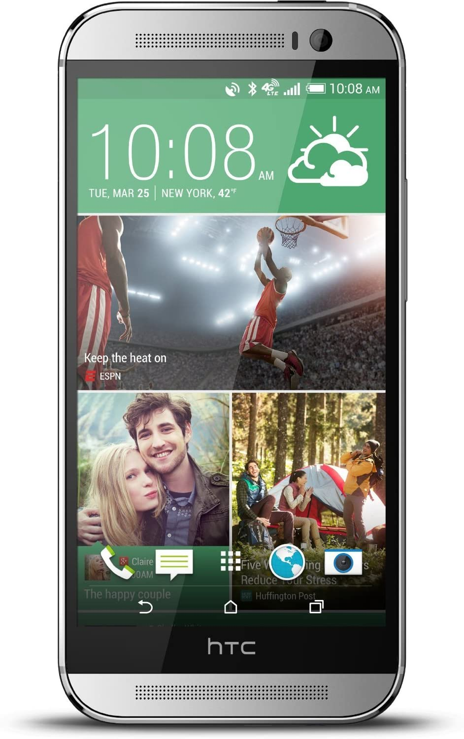 HTC One M8 32GB Unlocked GSM 4G LTE Quad Core Smartphone Silver