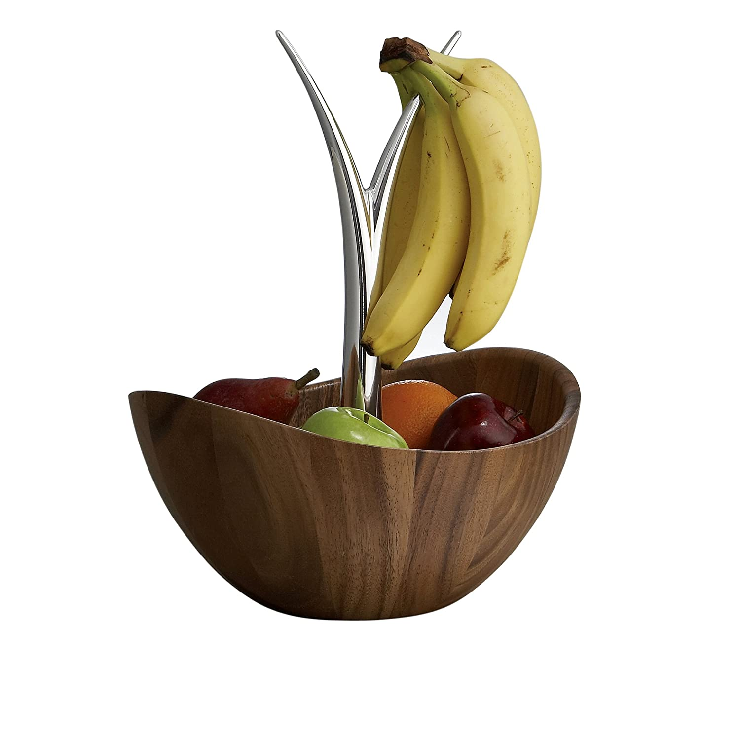 amazoncom nambe fruit tree bowl wood with metal alloy serving  - amazoncom nambe fruit tree bowl wood with metal alloy serving bowlskitchen  dining