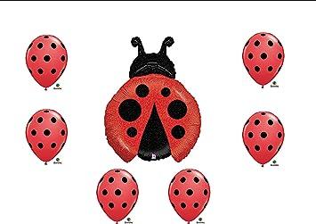 1 X Ladybug Balloon Set Birthday Party Baby Shower Decorations Supplies (7)