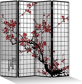 Fine Asianliving El biombo Biombo Decorativo Separador Biombos de Dormitorio Biombos Diseño Separador de Ambientes Biombo Divisor Tela Habitación Separador de Espacios 203-304: Amazon.es: Hogar