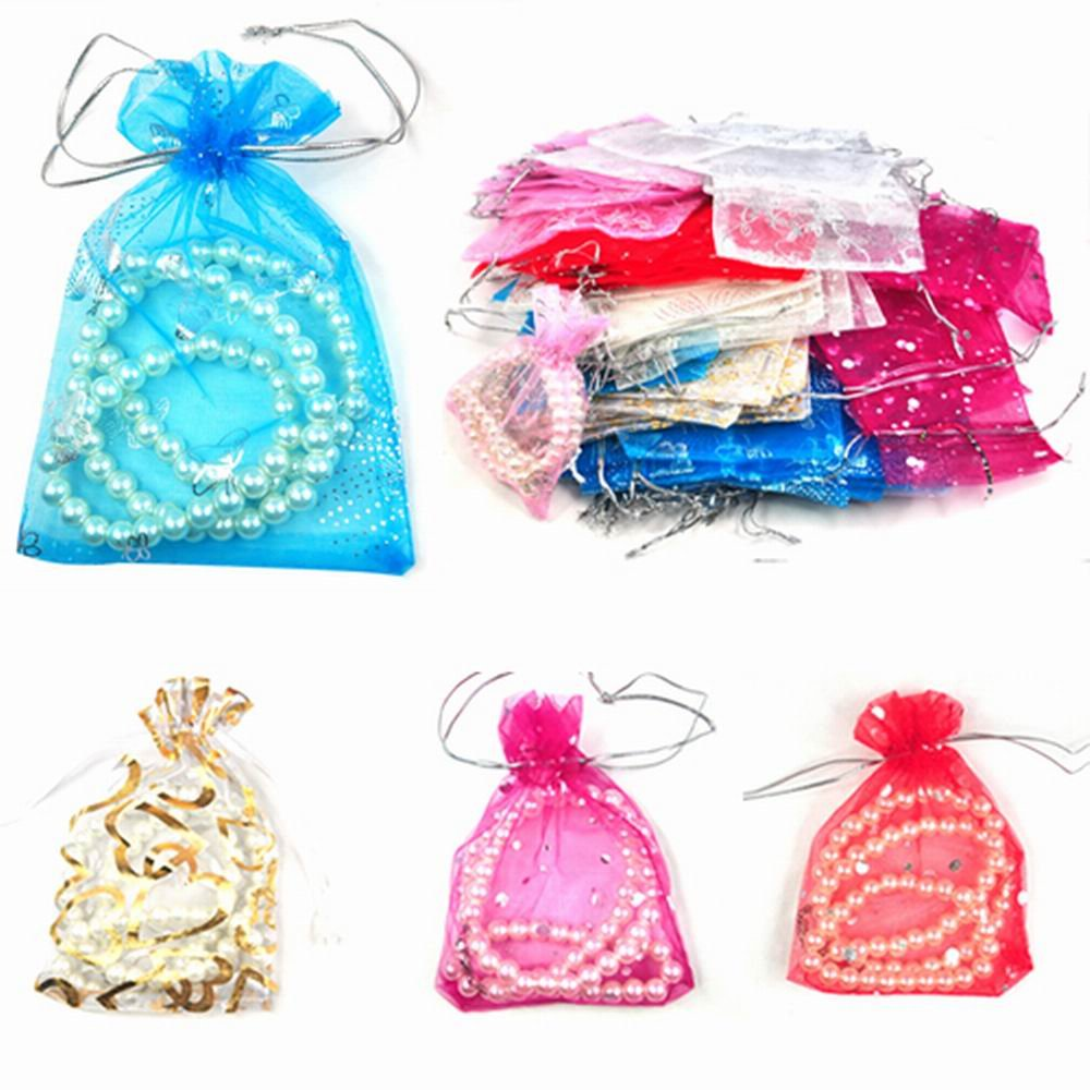 100 Mixed Organza Wedding Favor Gift Bags Jewellery Pouch 13cm X 10cm chinkyboo