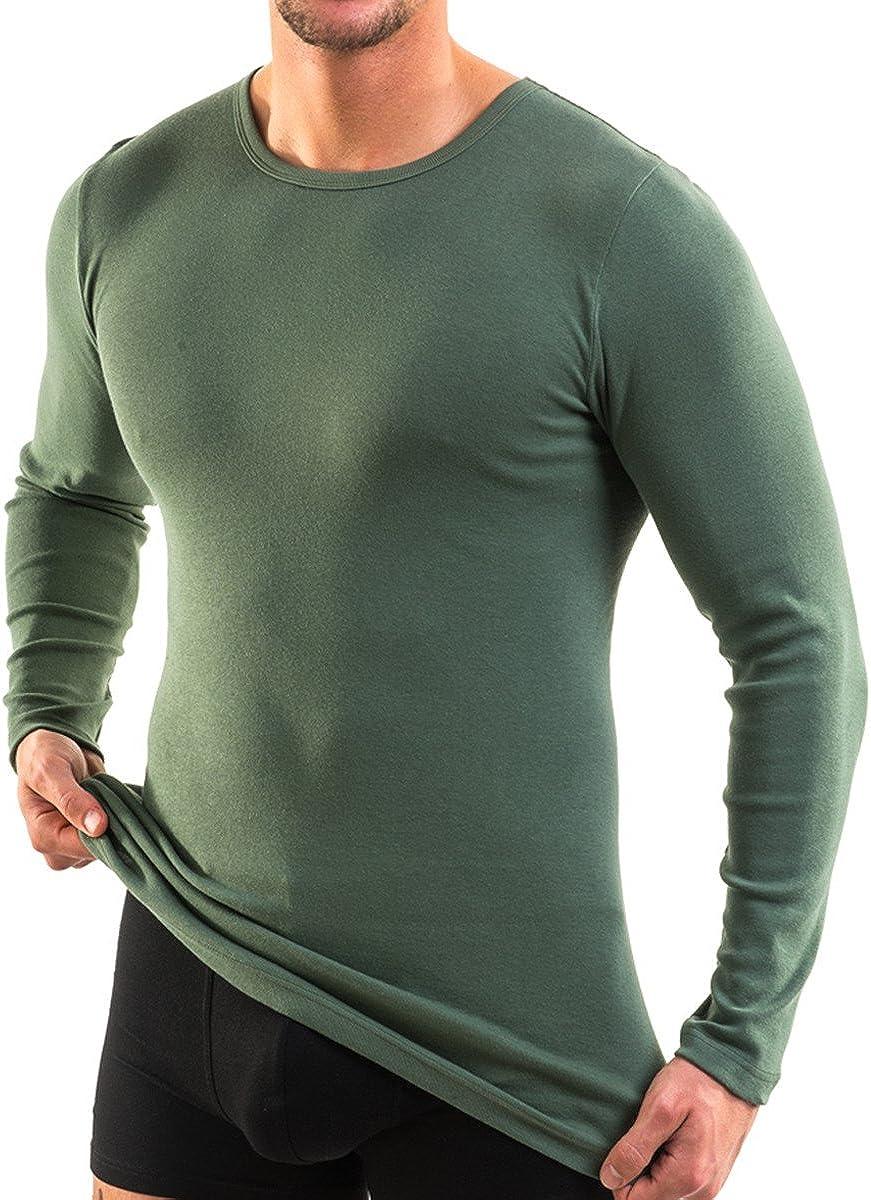 HERMKO 3640 2er Pack Herren Langarm Shirt Weitere Farben