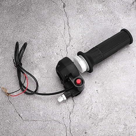 Akozon Manopola acceleratore manubrio Manopole acceleratore con interruttore di arresto per 47cc 49cc MiniMoto Dirt Bike con manubrio diametro 0,8 pollici