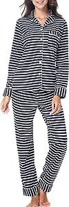 RIKILIO Women's Pajamas Set 2 Piece Classic Sleepwear...