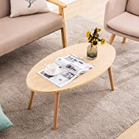 Nordic Style Simple Creative Small Table, Solid Wood Oval Mini Table, Suitable For The Living Room Bedroom Sofa Side Coffee Table, Etc. Modern simplicity