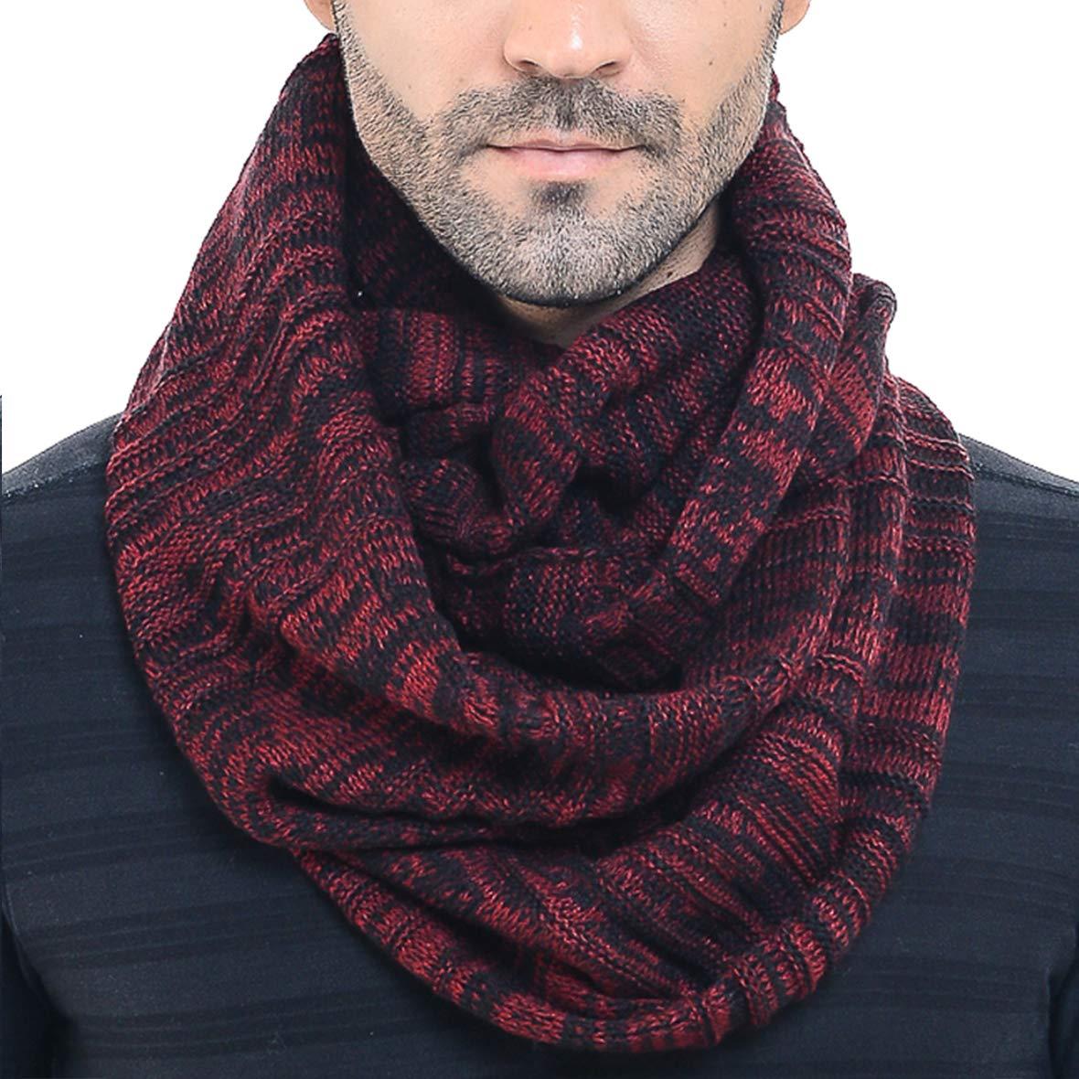 Men Women Knit Scarf Warm Winter Infinity Scarves