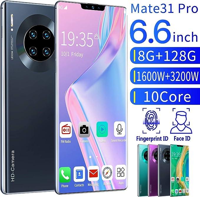 XGLL Smartphones Android para Personas Mayores, 6.6 Pantalla Completa 8Mp + 16Mp,8 GB RAM + 128 GB ROM,4500Mah Batería de Iones de Litio Dual Sim Teléfono móvil,Negro: Amazon.es: Hogar