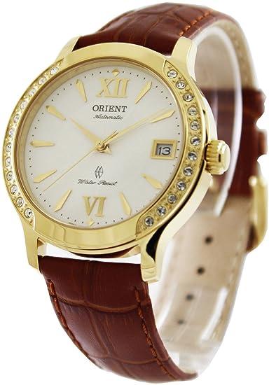 """Reloj Orient de mujer automático""""Fashion"""" dorado con circonitas ..."""