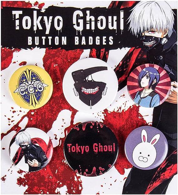 Pack 6 chapas Tokyo Ghoul: Amazon.es: Hogar