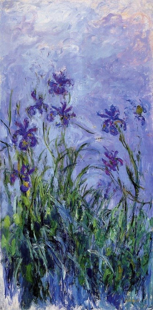 Monet Claude Lilac Irises 100% Hand Painted Oil Paintings Reproductions 12X16 Inch