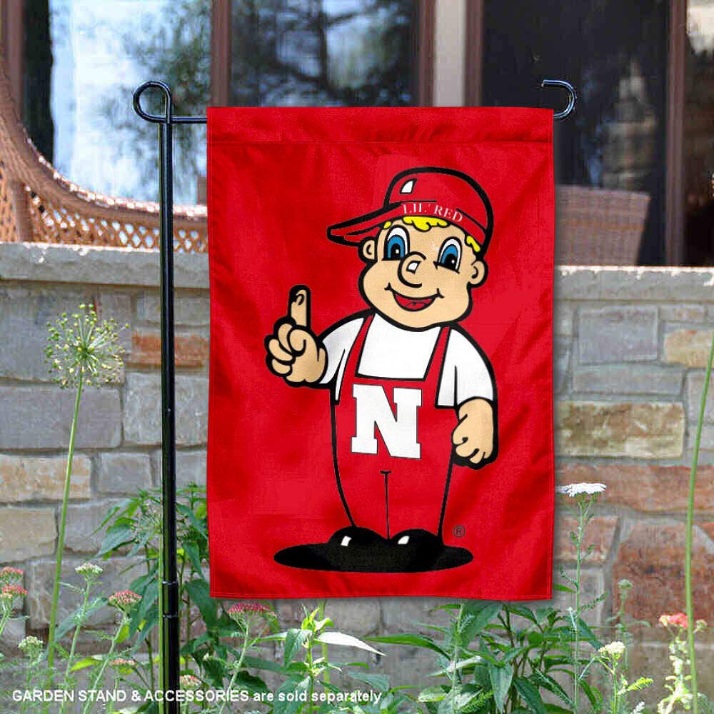 College Flags and Banners Co. Nebraska Cornhuskers Lil Red Mascot Garden Flag