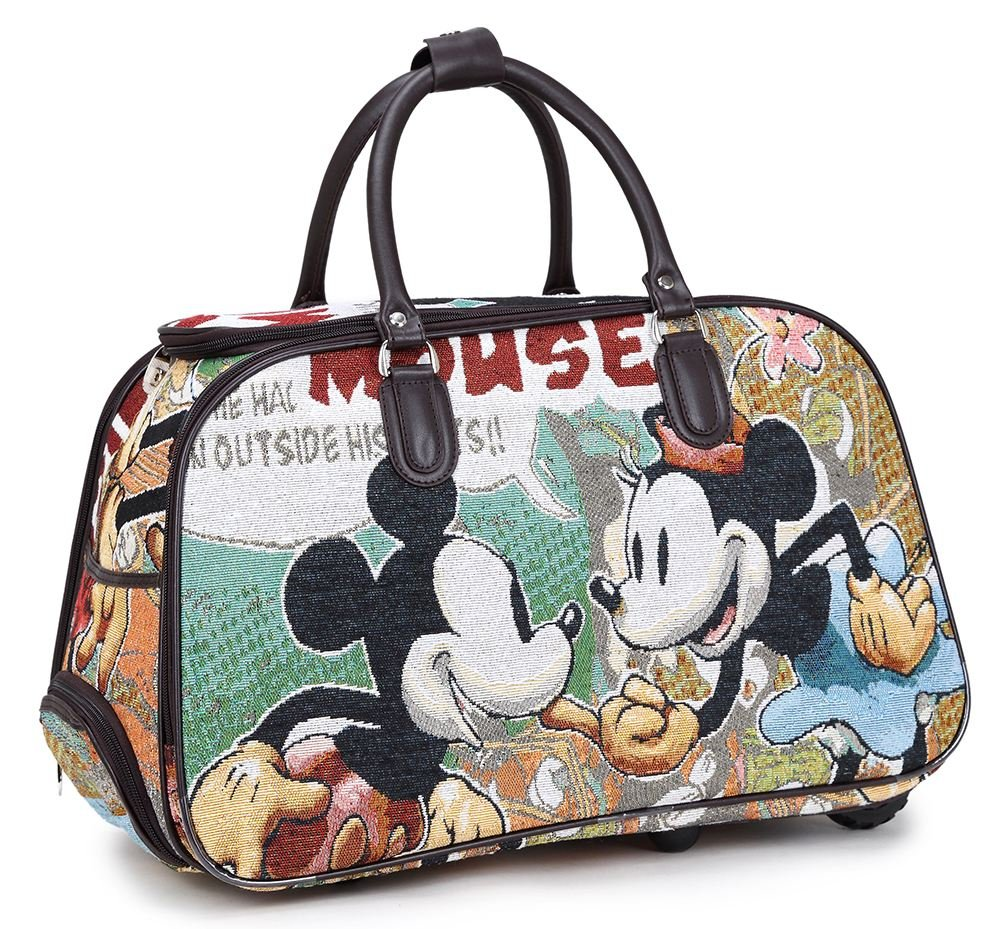 New Mickey mouse Vintage Holdall Trolley Bag Hand luggage Travel 2 Sizes 2 color
