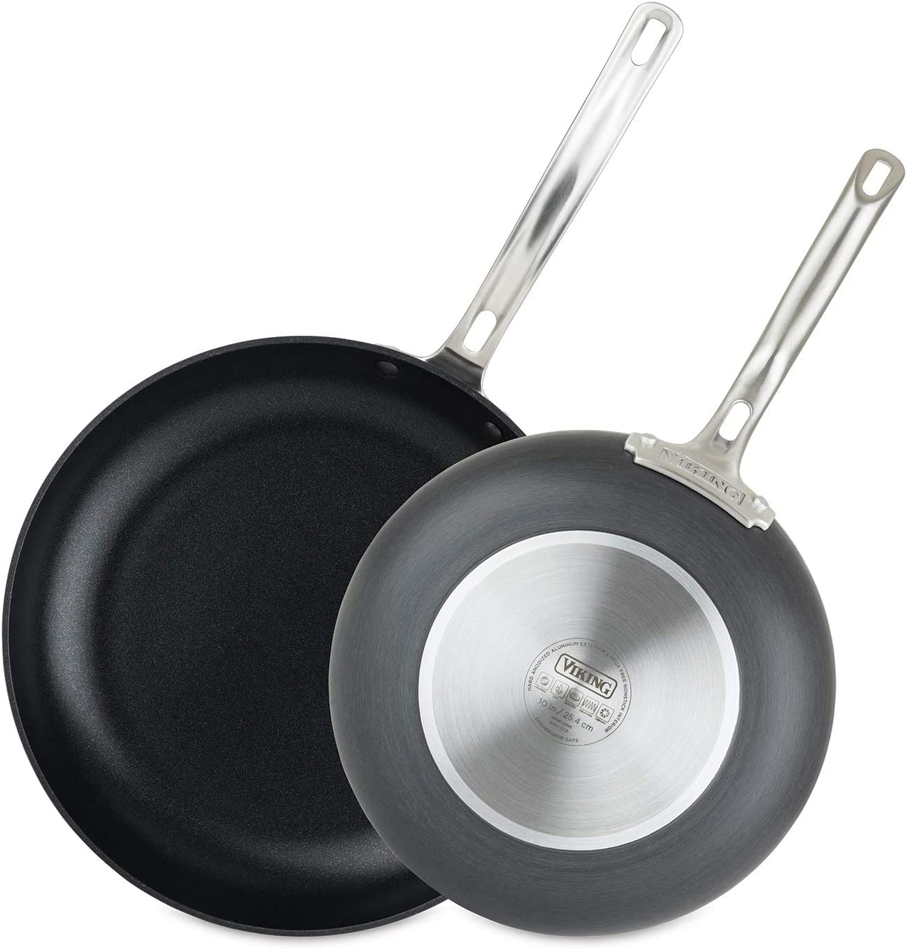 Viking Culinary Hard Anodized Nonstick Fry Set Pan 10 Inch And 12 Inch Gray Kitchen Dining