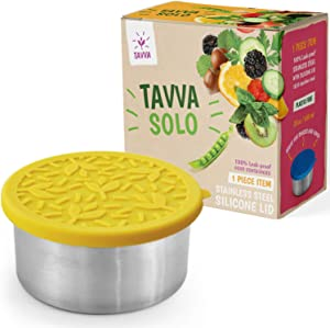 TAVVA Stainless Steel Salad Container for Lunch - 20oz Stainless Steel Lunch Container with Leakproof Food-grade Silicone Lid – Also Suitable as Kids Lunch Box, Toddler Lunch Box, Sandwich Container