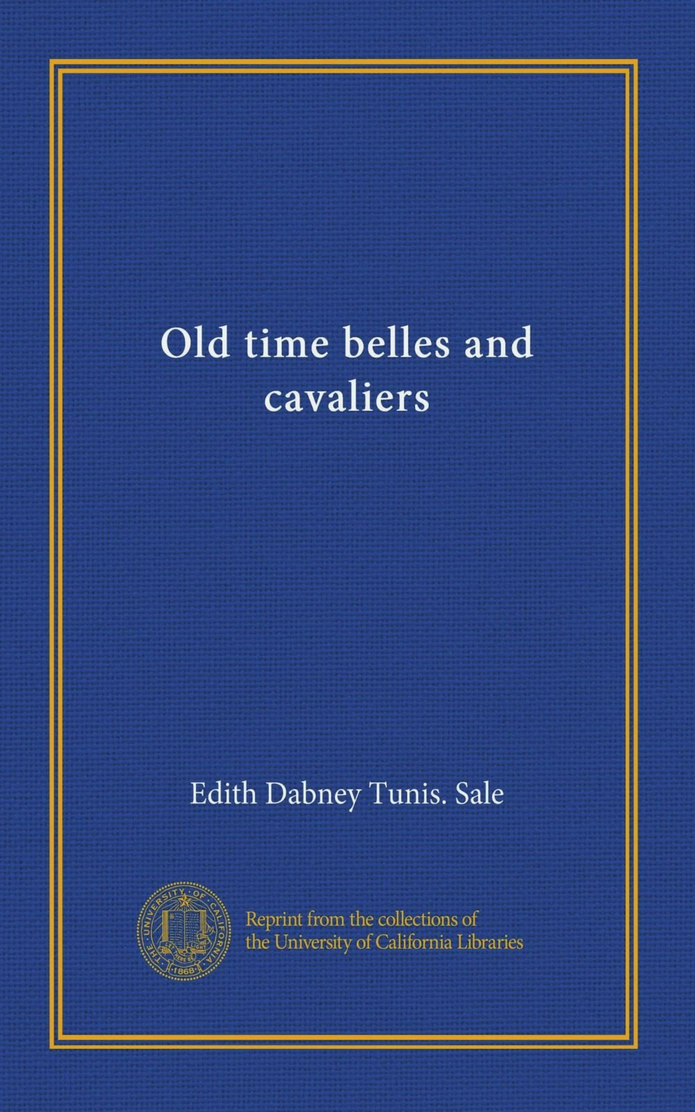 Old time belles and cavaliers pdf