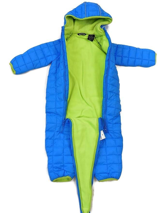 89056e796 Amazon.com: Snozu Infant Fleece Lined Ultralight Quilting One Piece Snowsuit  Blue 3/6M: Clothing