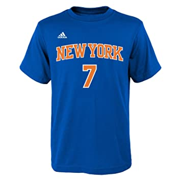 Adidas Carmelo Anthony Youth jóvenes New York Knicks NBA Blue Player Camiseta Camisa, Oficial: Amazon.es: Deportes y aire libre