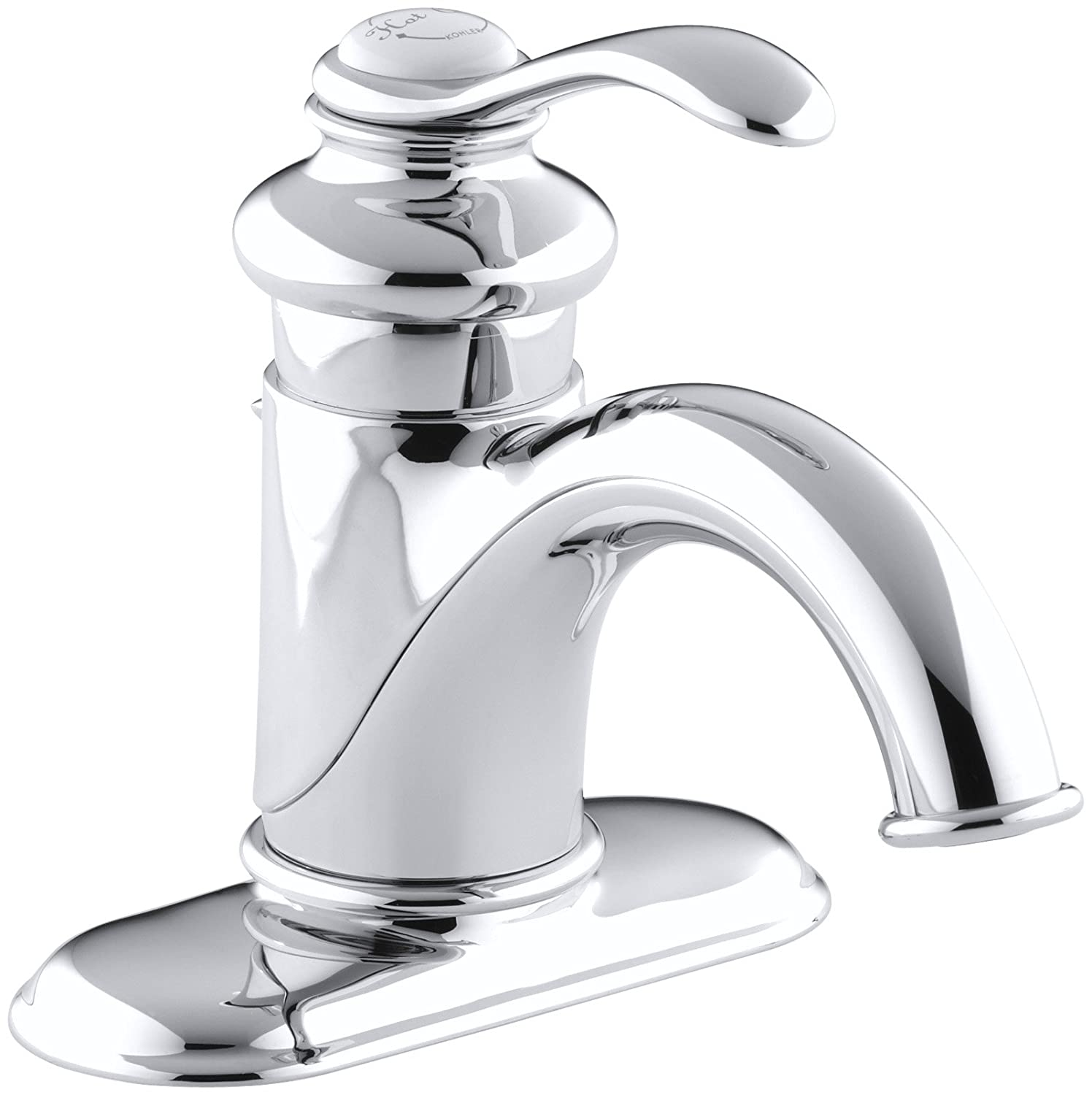 KOHLER K-12181-CP Fairfax 4 In. Centerset Bathroom Sink Faucet with ...