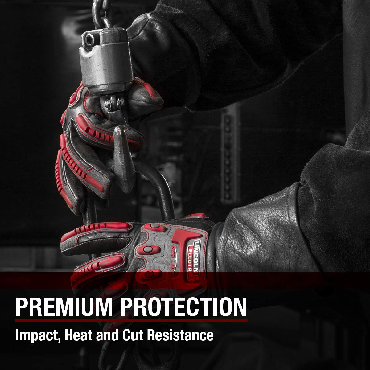 Lincoln Electric Roll Cage Welding/Rigging Gloves | Impact Resistant | Black Grain Leather | by Lincoln Electric (Image #4)
