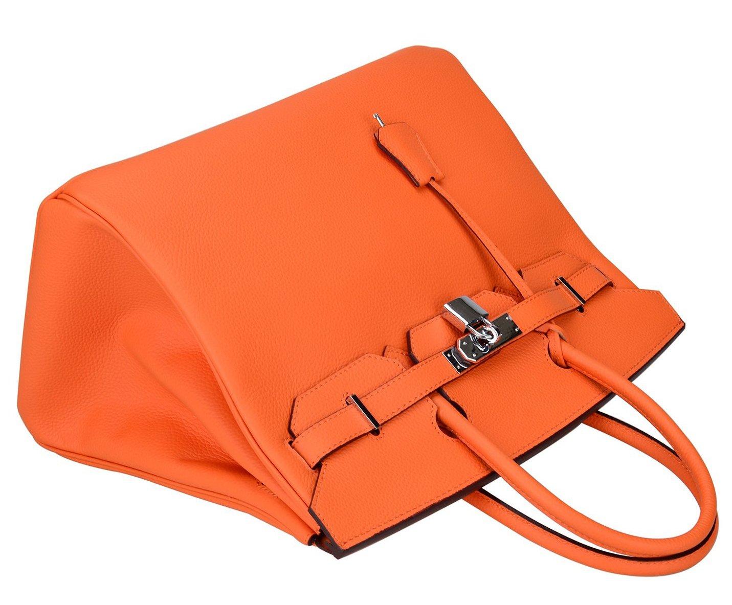 29fd29c03b Ainifeel Women s Padlock Handbags with Silver Hardware (35cm