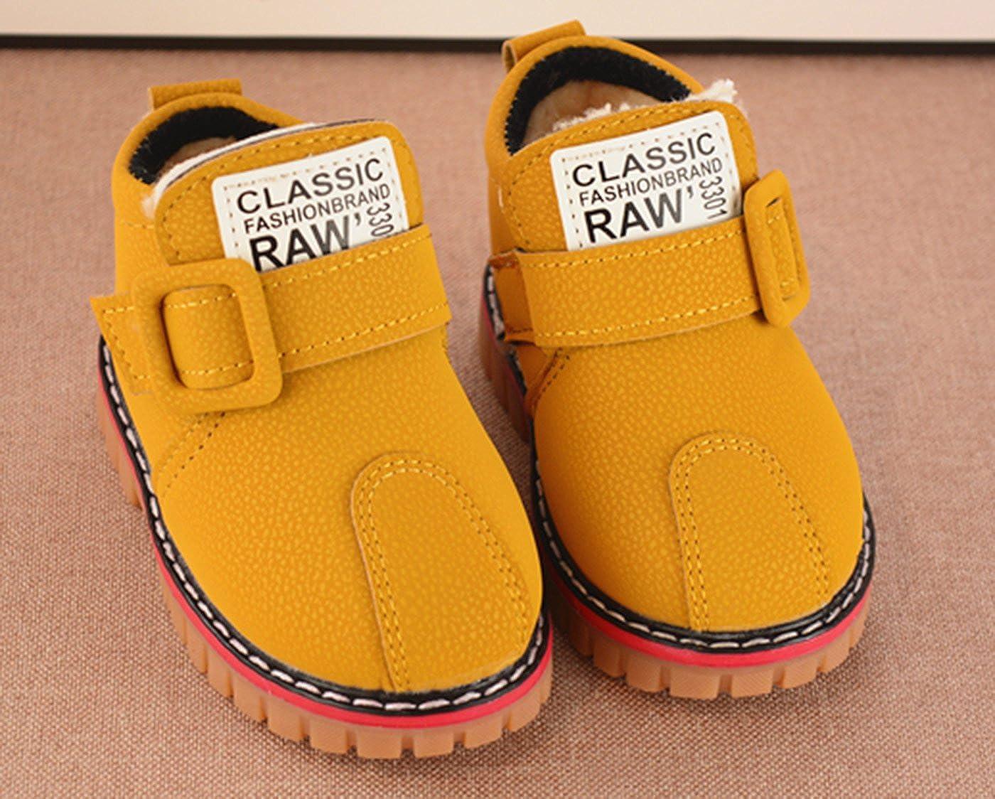 Happy Cherry Kids Autumn Winter Warm Fashion Children Martin Short Boots Casual Snow Boots