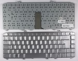 Keyboards4Laptops UK Layout Silver Laptop Keyboard Compatible with Dell Inspiron 1520, Dell Inspiron 1521, Dell Inspiron 1525, Dell Inspiron 1526, Dell Inspiron 1545